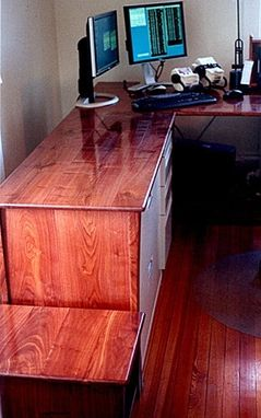 Custom Made Filing Cabinet And End Table Of Walnut Desk