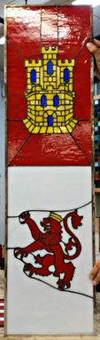 Custom Made Stained Glass Window Flag Panels - (P-143)