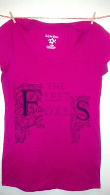 Custom Made Sale The Fleet Foxes Large Hot Pink Shirt, Ready To Ship