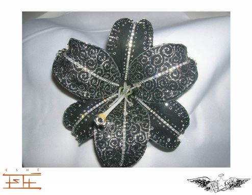 Custom Made Custom Black And Silver Swirl Lily