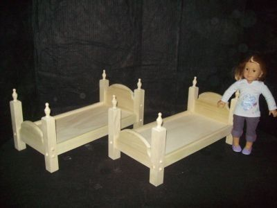 Custom Made Stackable Twin Bed For American Girl Doll