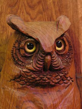 Custom Made Large Butternut Owl Carving