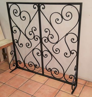 Custom Made Free-Standing Fireplace Screen