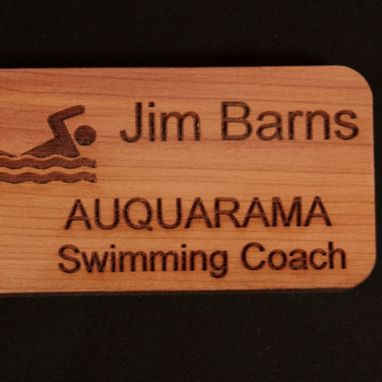 "Custom Made 1 1/2 X 3"" Name Badge"