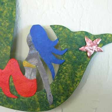 "Custom Made Handmade Upcycle Metal Wall Art Sculpture ""Milo And The Girls''"