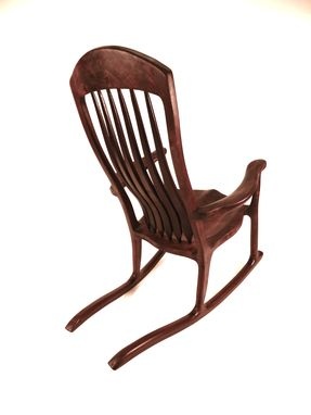 Custom Made Mahogany Rocker