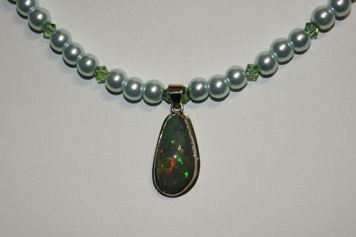 Custom Made Super Bright Welo Black Crystal Opal, Very Rare N3 Necklace