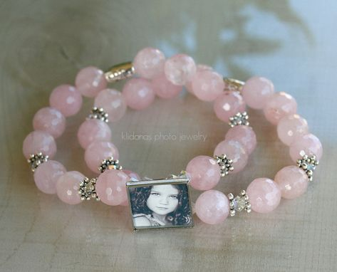 Custom Made Beaded Bracelet, Photo Bracelet, Photo Jewelry, Picture Bracelet