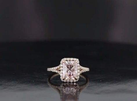 Custom Made Pretty In Pink Rose Gold Engagement Ring