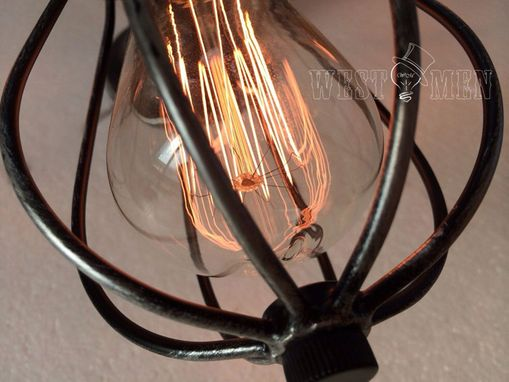 Custom Made Industrial Cage 3 Lights Ceiling Lighting Series