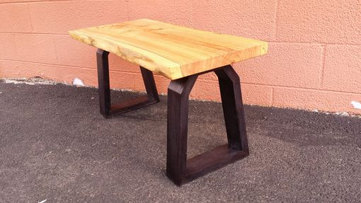 Custom Made The Cumulonimbus - Honey Locust Entryway Live Edge Rustic Sitting Bench