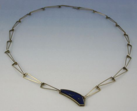 Custom Made Lapis And White Gold Necklace