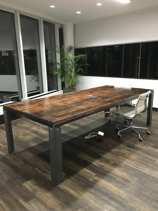 Buy A Hand Made Industrial Conference Table Made To Order From Montanawoodco Custommade Com