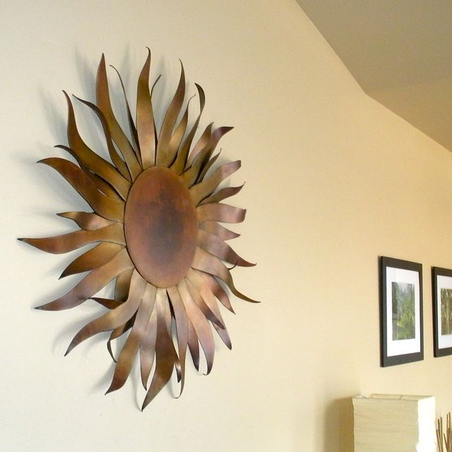 Custom Made Original Metal Sun Sculpture Wall Art by Aura Waterfalls ...