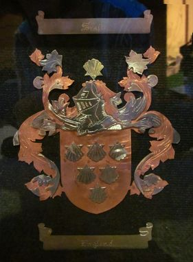 Custom Made Family Crest - From Metal