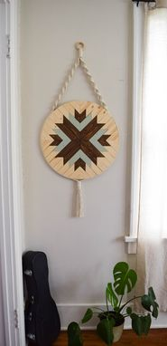 Custom Made Scout - Round Macrame Wood Wall Art Hanging
