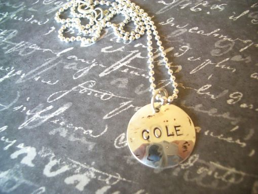 Custom Made Necklace With Personalized Pendant