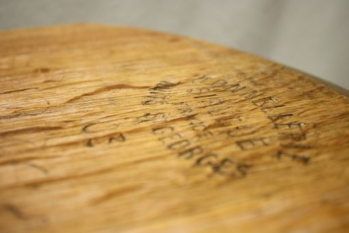 Custom Made Wine Barrel Table