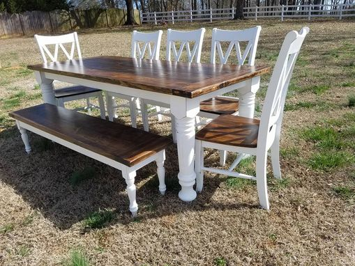 Custom Made Bishop Style Farmhouse Table