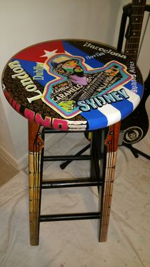 Custom Made Rock N' Roll Stool Custom Stools