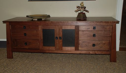 Custom Made Walnut Entertainment Credenza