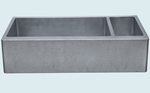 Custom Made Zinc Sink With Hammered Apron