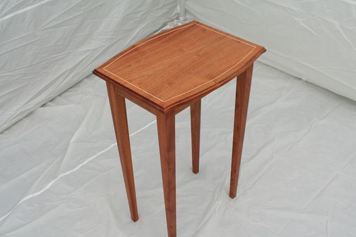 Custom Made Mahogany Side Table With Maple Inlay - Shipping Included