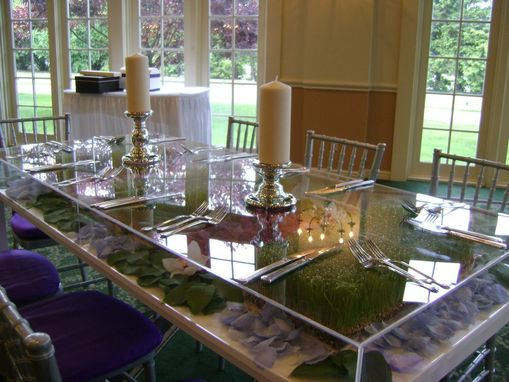 Custom Made Lucite / Acrylic Table Toppers - Cover.  Protect Your Table Decorations While Eating!!