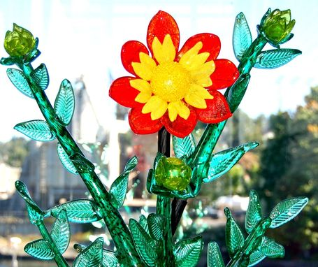 Custom Made Memorial Dahlia Sculpture