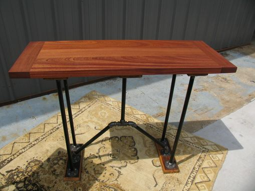 Custom Made Mahogany Dinning Table And Accent Bar Top Tables