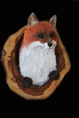 Custom Made Fox Carving Sculpture
