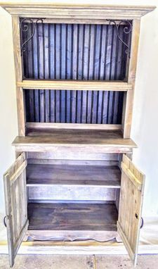 Custom Made Knotty Cedar Custom Hutch