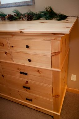 Knotty Pine Dresser By Pin Scroll