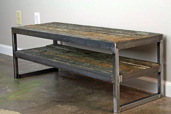 Metal Tv Stand Designs : Buy a handmade vintage industrial tv stand reclaimed wood