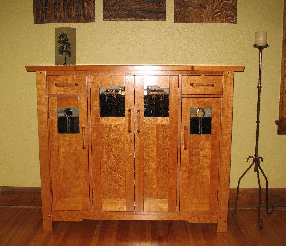 Custom made greene greene liquor cabinet by timeless for Greene and greene inspired furniture