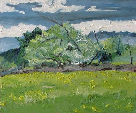 "Custom Made Fournier Appalachian Plein Air Oil Painting Quebec Canada ""Growing Wild"" 10"" X 12"""