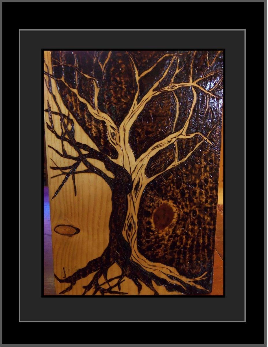 Hand Made Tree Of Life Tree Of Life Art Wood Burned Tree