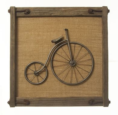 "Custom Made ""Penny Farthing"" Bicycle Steel Wallart"