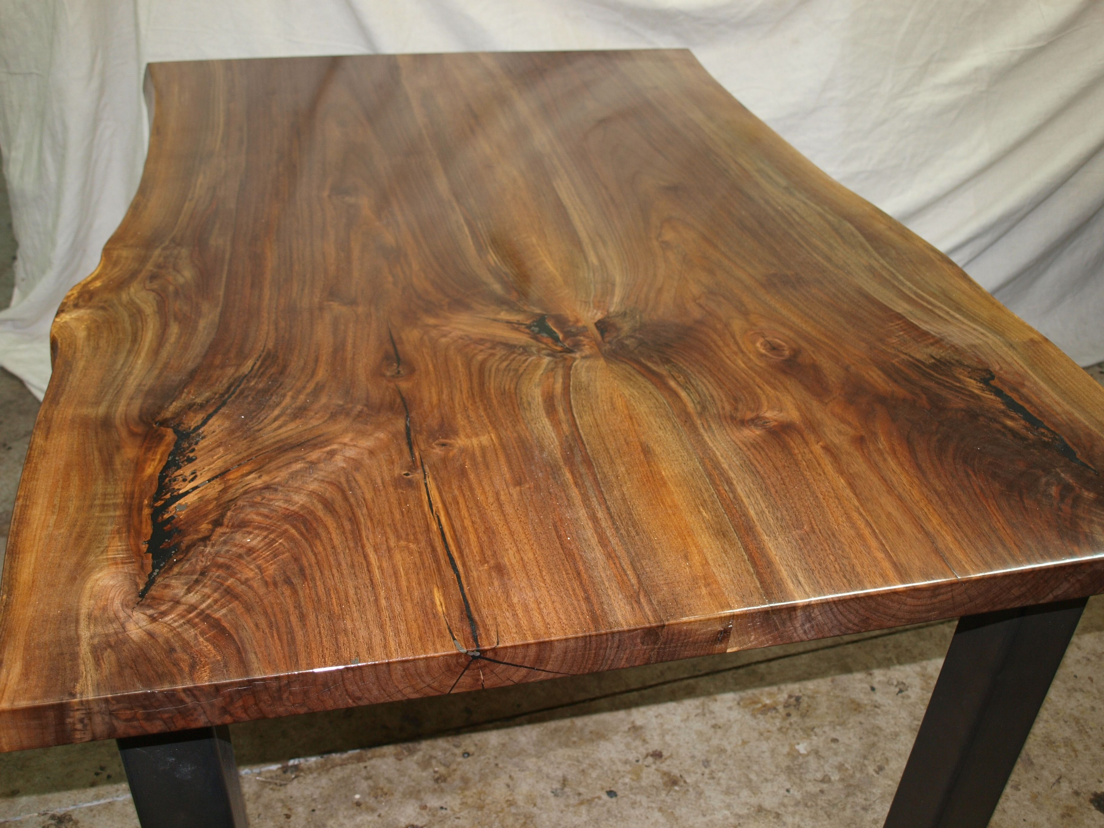 Custom Live Edge Walnut Table By Witness Tree Studios