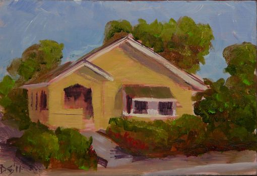 Custom Made Yellow Bungalow - 5 X 7 Greeting Card Reprint