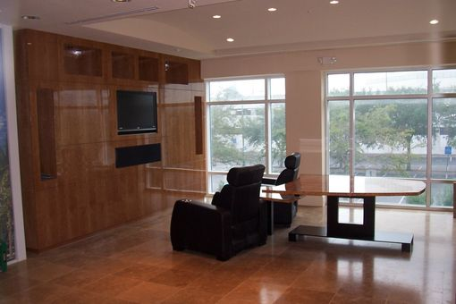 Custom Made Conference Room Cherry Wall Unit