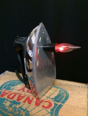Custom Made Handmade Upcycled Iron Lamp
