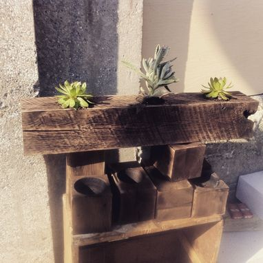Custom Made Wooden Succulent Containers