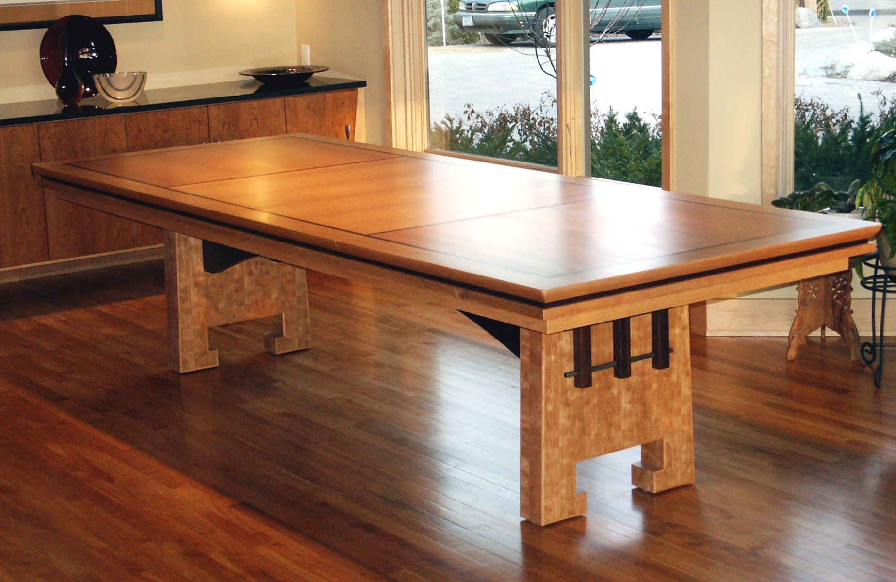 Handmade Trestle Dining Table by Third Street Studios  : 325324097 from www.custommade.com size 1847 x 1200 jpeg 276kB