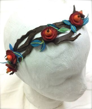 Custom Made Leather Flower Vine Headband