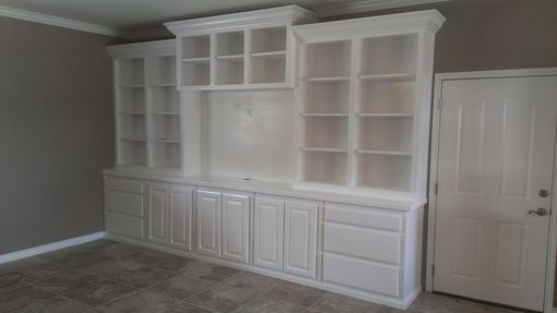 Hand Crafted Large White Wall Unit By Top Quality Cabinets Custommade Com