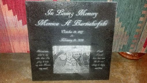 "Custom Made 12"" Laser Engraved Granite Tiles , Photo Engraving, Memorials, Anniversaries, Awards', Gifts"