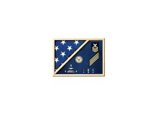 Custom Made Medal Flag Case Made Actual Service Uniform Fabrics