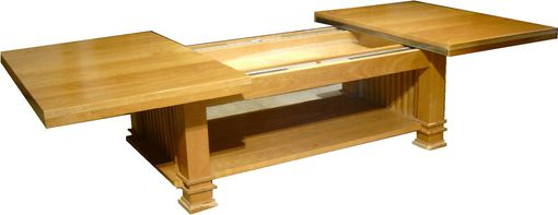 Custom Made Black Cherry Sliding Top Coffee Table