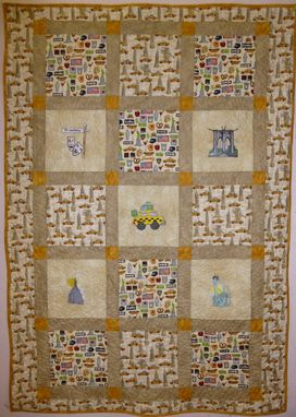 Custom Made Custommade I Love New York Throw Quilt